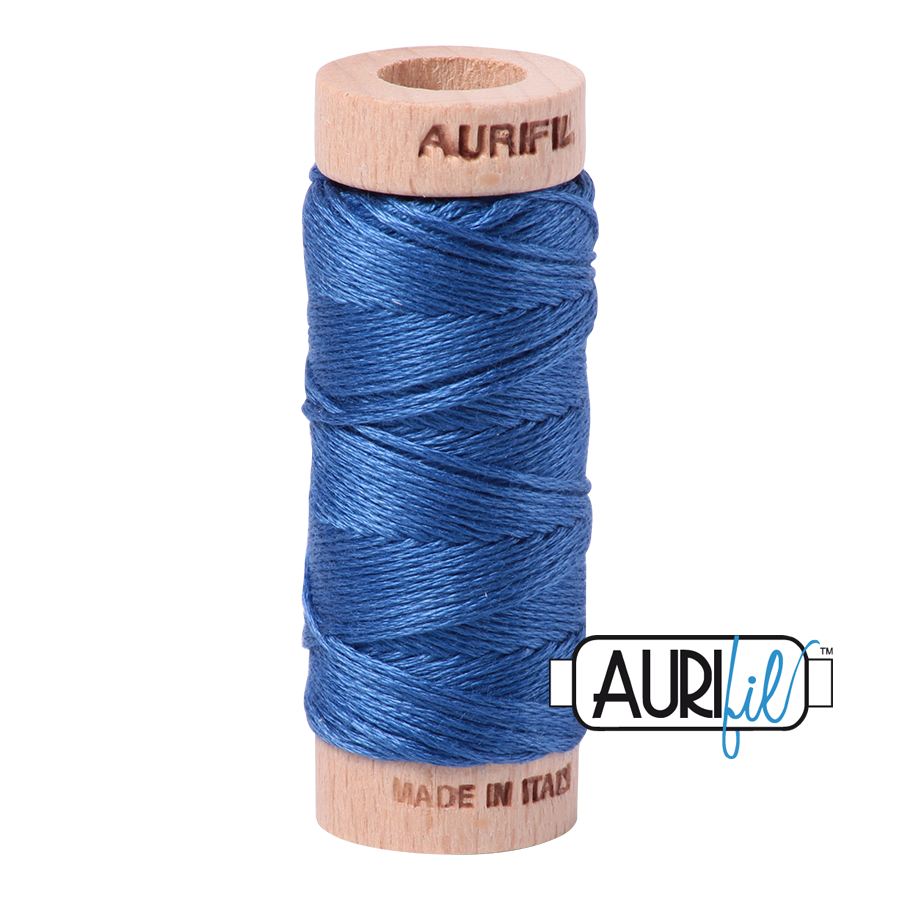 Aurifil Cotton Embroidery Floss, 6738 Peacock Blue