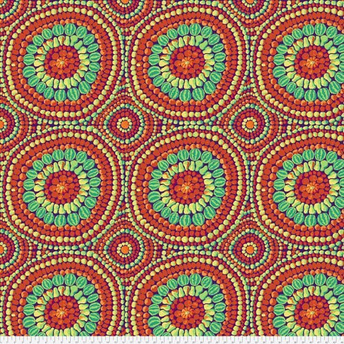Kaffe Fassett - Mandala Red - Extra Wide Fabric 274cm (108