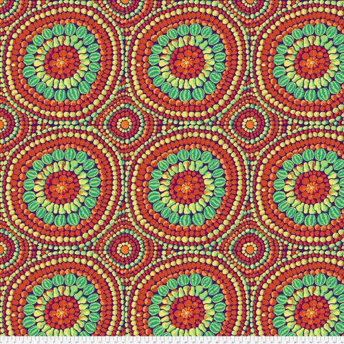 Kaffe Fassett - Mandala Red - Extra Wide Fabric 274cm (108