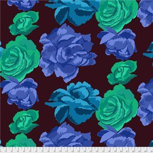 Kaffe Fassett Collective - Rose Clouds - Aubergine - PWGP164AUBER
