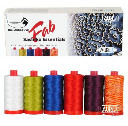 Aurifil Cotton 12wt, 'Fab Sashiko Essentials' by the Shibaguyz