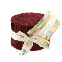 Moda - Bella Solids - Col. 18 Burgundy - Junior Jelly Roll