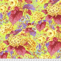 Kaffe Fassett Collective - Philip Jacobs - Rose and Hydrangea - PWPJ097 CITRUS