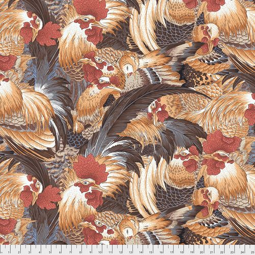 Snow Leopard Designs - Roosters - PWSL080 Natural