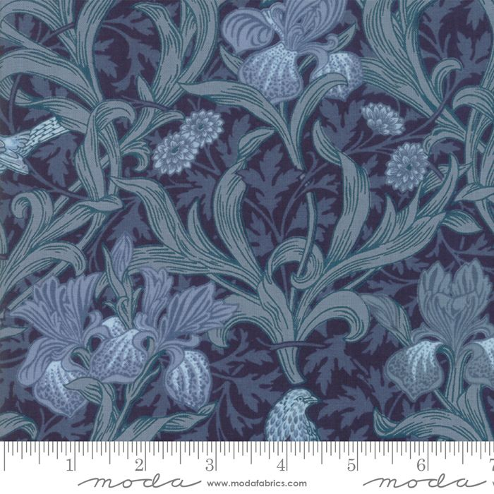 Moda - May Morris Studio - Indigo - No. 7340 16 (Dark Blue)