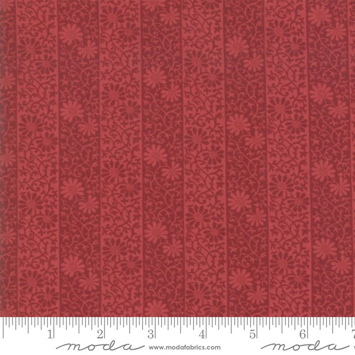 Moda - May Morris Studio - Crimson - No. 7343 15 (Red)