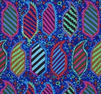 Striped Heraldic - Blue - PWGP153.BLUE - Kaffe Fassett Collective
