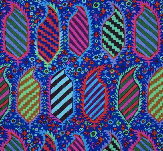 Kaffe Fassett Collective - Kaffe Fassett - Striped Heraldic - Blue - PWGP15