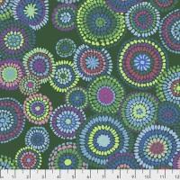 Mosaic Circles - Green - PWGP176.GREEN - Kaffe Fassett Collective