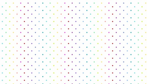 Makower - Rainbow Sprinkles - Swiss Dot  - White - 2/9428L