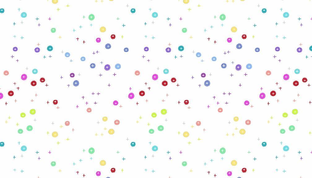 Makower - Rainbow Sprinkles - Buttons  - White - 2/9426L