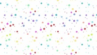 Makower - Rainbow Sprinkles - Buttons  - White - 2/9426L