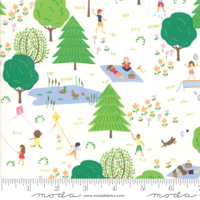 Moda - Sunday Picnic - A Day in the Park - 20671 11 (White)