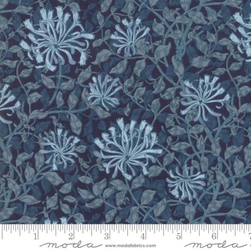 Moda - May Morris Studio - Honeysuckle - 7347 17 (Indigo)