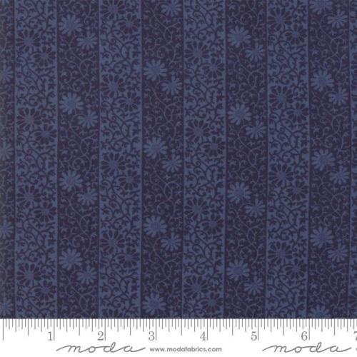 Moda - May Morris Studio - Stripe Twill - 7343  21 (Indigo)