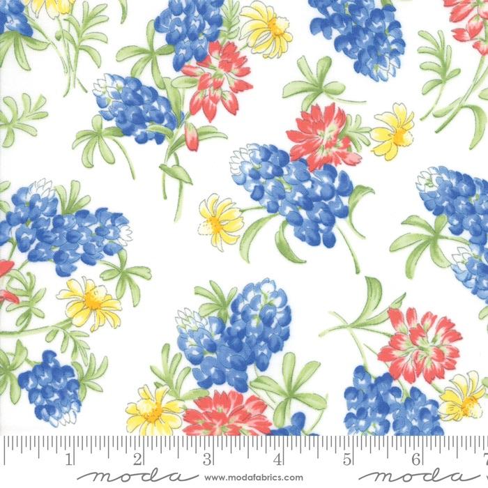 Moda - Fields of Blue - Bouquet Of Wildflowers - 33452 11 (Ivory)