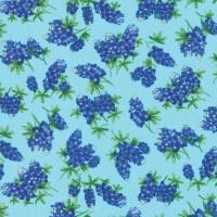 Moda - Fields of Blue - Tossed Bluebonnets - 33453 16 (Aqua)