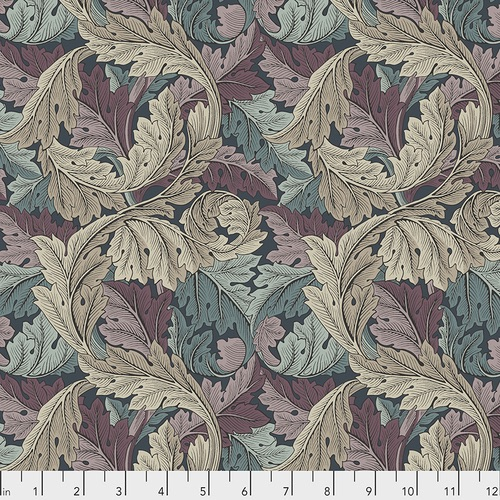 Free Spririt Fabrics - The Original Morris & Co - Acanthus - Dusk - PWWM027