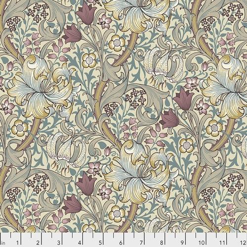 Free Spririt Fabrics - The Original Morris & Co - Golden Lily - Dusk - PWWM