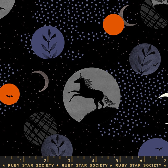 Moda - Crescent - Novelty Unicorn Moon - RS2003 11 (Black)