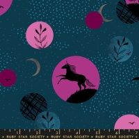 Moda - Crescent - Novelty Unicorn Moon - RS2003 12 (Teal)