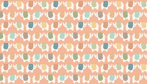 Makower - Jungle Friends - Elephants - 2198/P