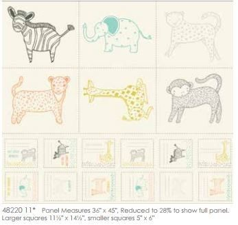 Moda - Savannah - Little Critters Panel - 48220 11