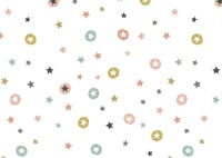 Makower - Modern Metallic Christmas - Stars - White - 1802/W