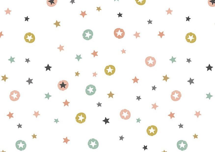 Makower - Modern Metallic Christmas - Stars - 1802/W (White)