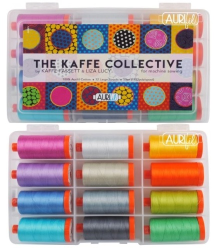 Aurifil Cotton 50wt, The Kaffe Collective by Kaffe Fassett & Liza Lucy