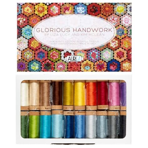 Aurifil Cotton 80wt, Glorious Handwork by Liza Lucy & Kim McLean