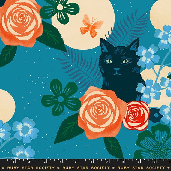 Moda - Rayon 2019 - Magic Cat - RS5008 11R (Teal)