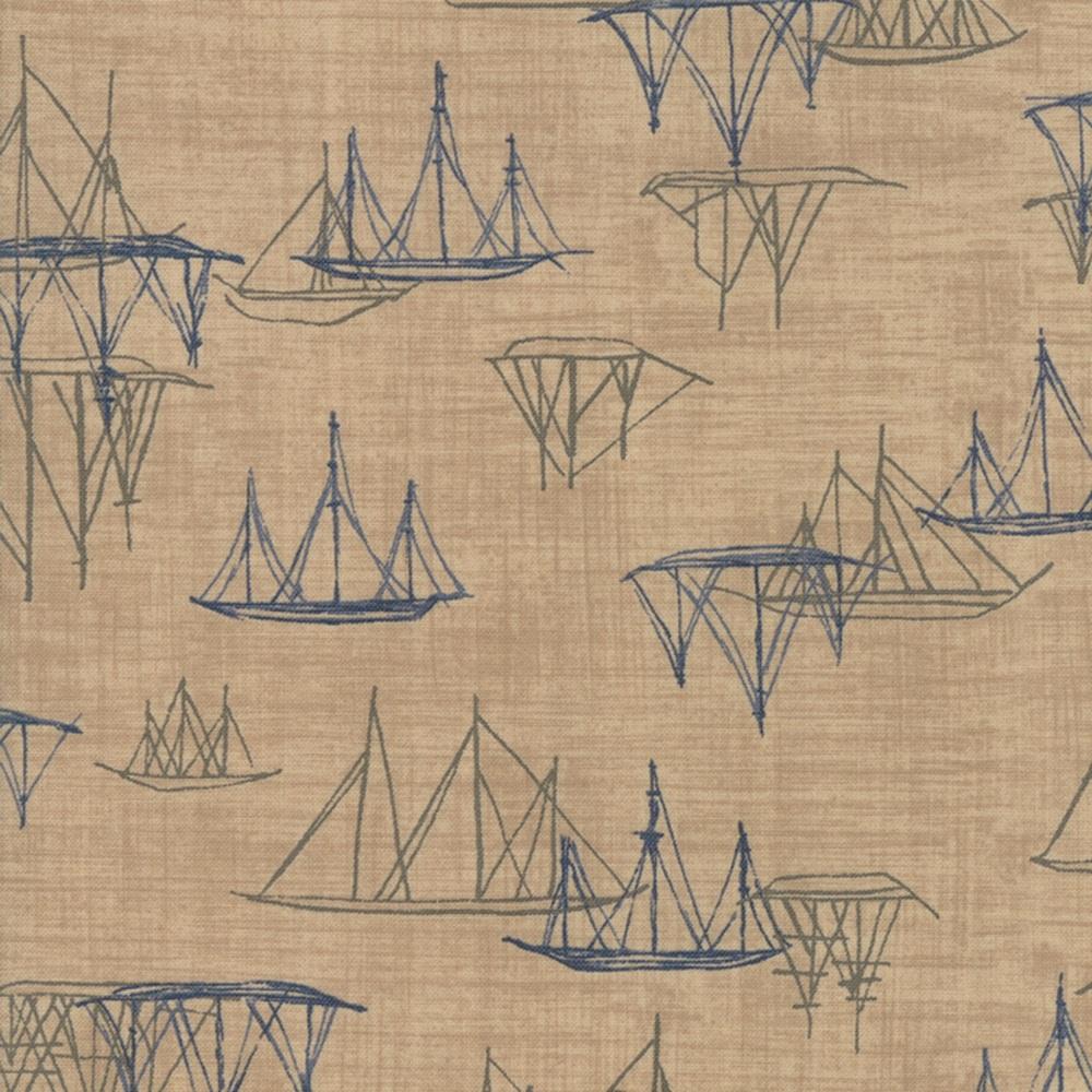 Moda - Ebb & Flow - Cowes - No. 1486-14 (Sand)