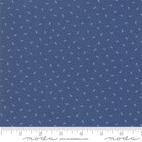 Moda - Indigo Gatherings - Rose Bed No.1297-19 (Admiral Blue)