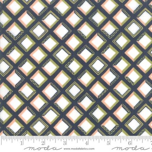 Moda - Goldenrod - Tiles - No. 36054-12 (Navy)