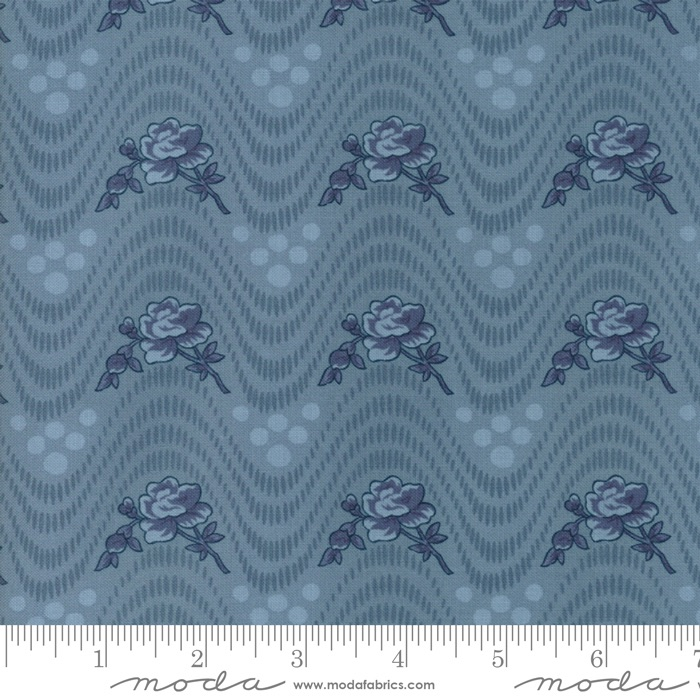 Moda - Northport - Floral Wavy - No 14881 15 (Blue)