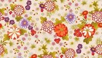 Makower - Kimono - Chrysanthemum - No. 2042/Q (Cream)