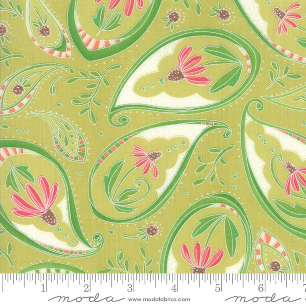 Moda - Painted Meadow - Paisley - 48661 13 (Sprig)