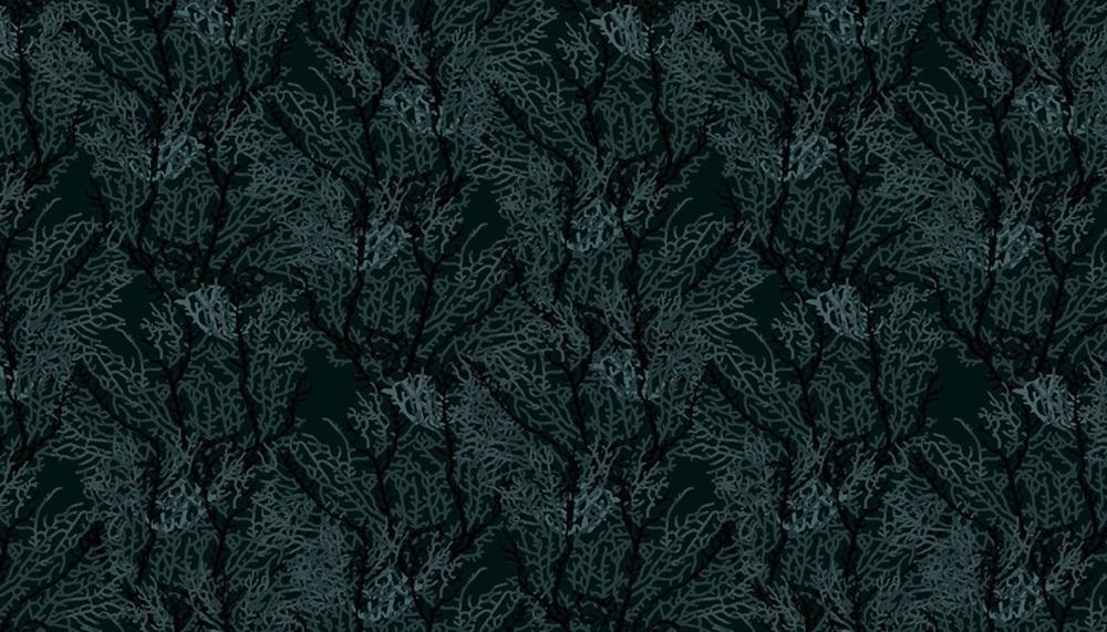Makower - Reef - Seaweed - Black - 2254/X