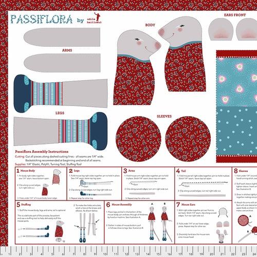 Free Spirit Fabrics - Passiflora Panel - Multi - PWOB033.MULTI