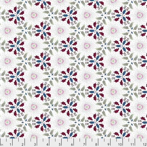 Free Spirit Fabrics - Christmas Rose - Snow - PWOB029.SNOW