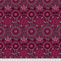 Free Spirit Fabrics - Frost Flowers - Burgundy - PWOB027.BURGUNDY
