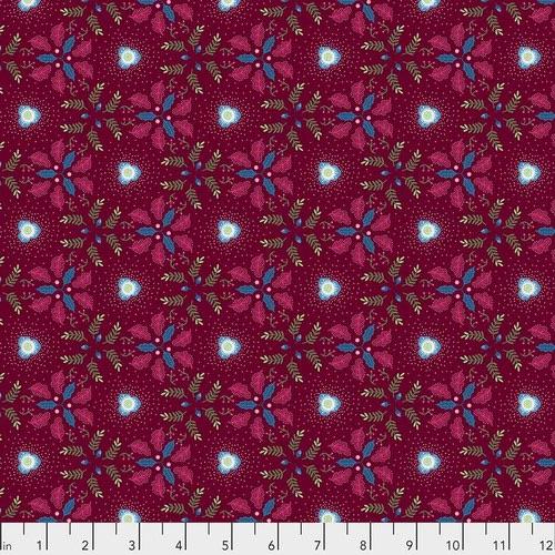 Free Spirit Fabrics - Christmas Rose - Burgundy - PWOB029.BURGUNDY