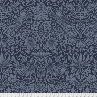 Free Spirit Fabrics - The Original Morris & Co - Backing Fabric - Strawberry Thief - Navy - QBWM001.NAVY