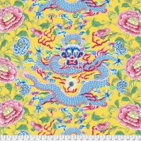Snow Leopard Designs - Dragon & Peony - Yellow - PWSL082.YELLOW