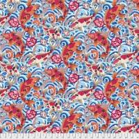 Snow Leopard Designs - Leaping Carp - Blue - PWSL086.BLUE
