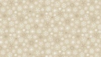 Makower - Scandi - Snowflakes - Taupe - 1787/Q