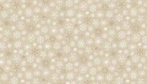 Makower - Scandi - Snowflakes - Cream - 1787 Q