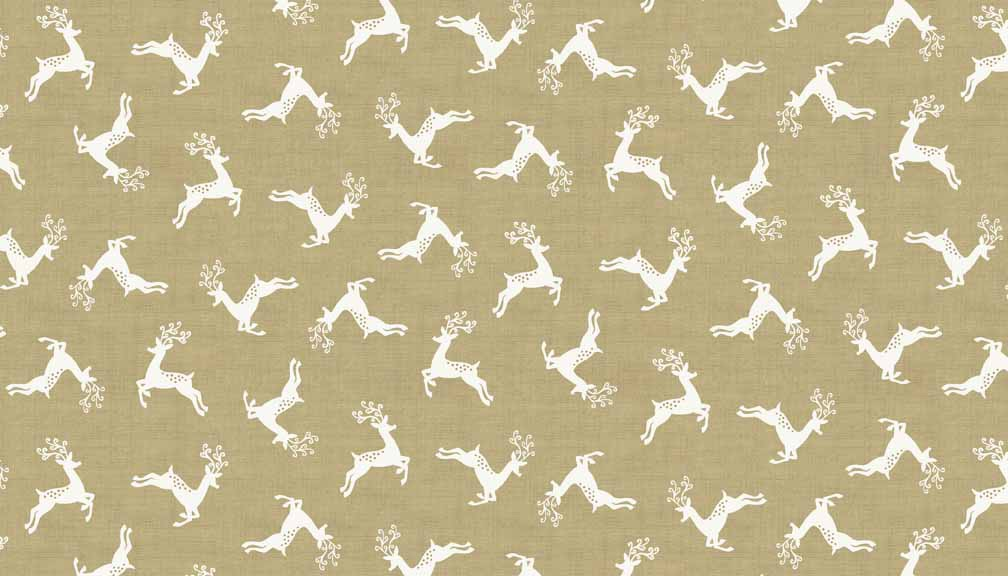 Makower - Scandi - Deer Scatter - Cream - 1785 Q5