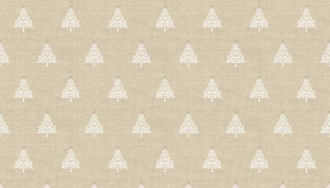 Makower - Scandi - Christmas Trees - Taupe - 1783 Q